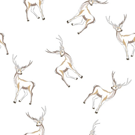 pattern with deer Vectores