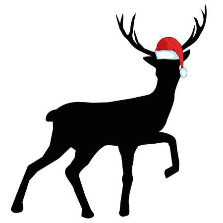 Image vectorielle d'un chapeaux de cerf et de santa sur fond blanc. Banque d'images - 93142866