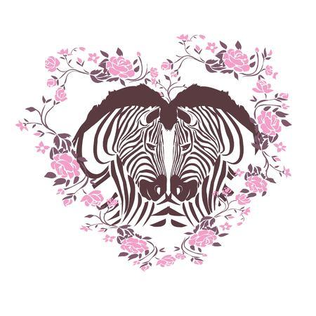 Cute zebra i love you forever card, animal, cartoon, day, illustration, love, valentine, vector, zebra children comic gift graphic happy heart design
