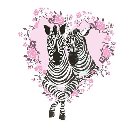 Cute zebra i love you forever card, animal, cartoon, day, illustration, love, valentine, vector, zebra children comic gift graphic happy heart design