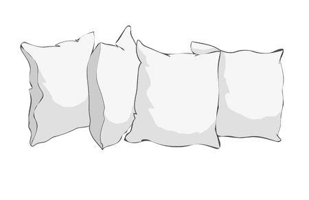 sketch vector illustration of pillow Banco de Imagens