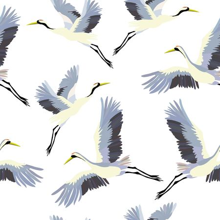 crane, pattern, vector, illustration 스톡 콘텐츠