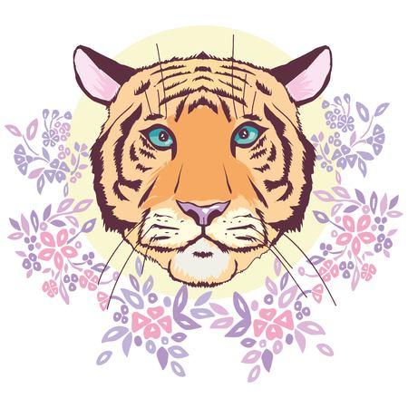 Silhouette tête de tigre, vecteur Banque d'images - 94568300