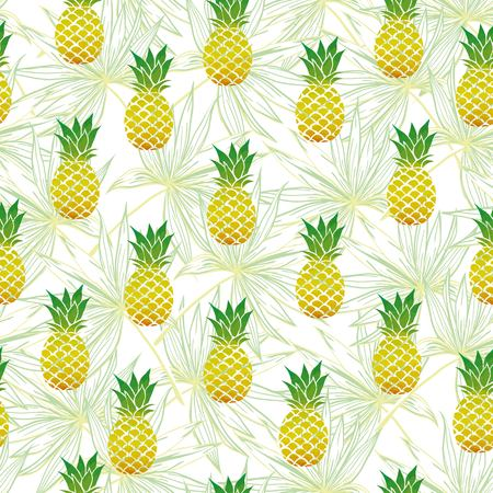 Vector Seamless Pattern with Pineapples
