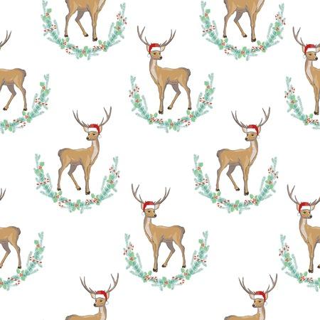 사슴은 원활한 패턴 머리
