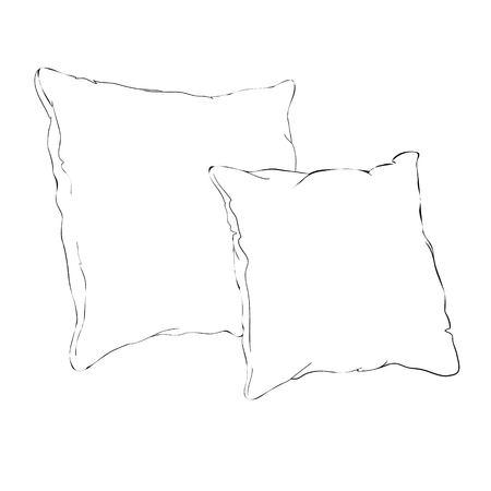 스케치 벡터 베개, 예술, 베개, 베개, 베개, 베개, 자유형, 그래픽, 집, 수제, 아이콘, 이미지, 잉크, 절연, 개체, 개요, 휴식, 주름, 스케치, 스케치, 수줍