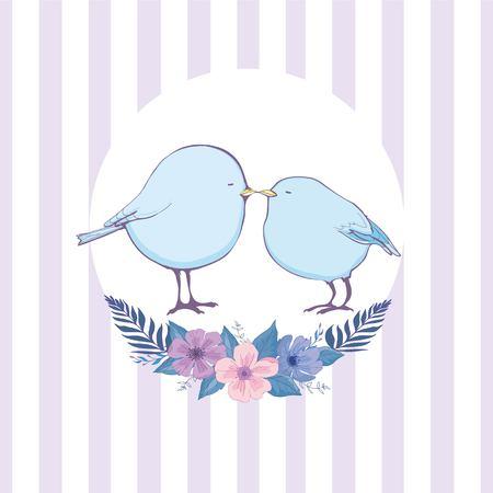 Colorful bird doodle vector illustration Ilustração