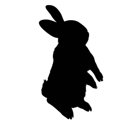 Silhouette of a rabbit vector illustration