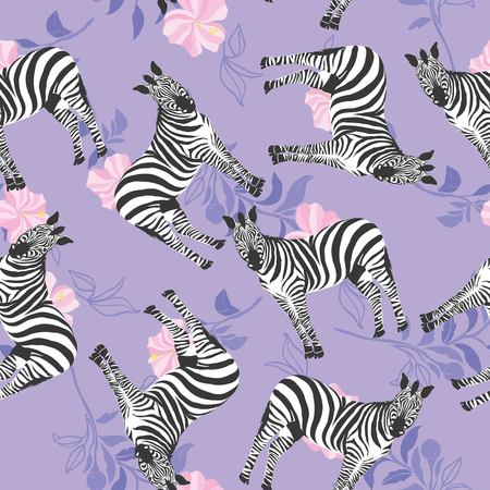 Zebra pattern, illustration, animal. 向量圖像