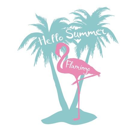 Flamingo. Vector illustration, silhouette, beautiful, bird symbol vector pink africa exotic 向量圖像