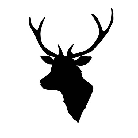 deer silhouette, vector, illustration Çizim