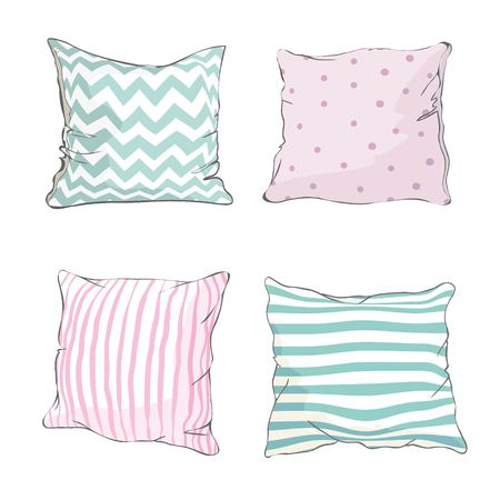 sketch vector illustration of pillow, art, pillow isolated, white pillow, bed pillow Stock fotó