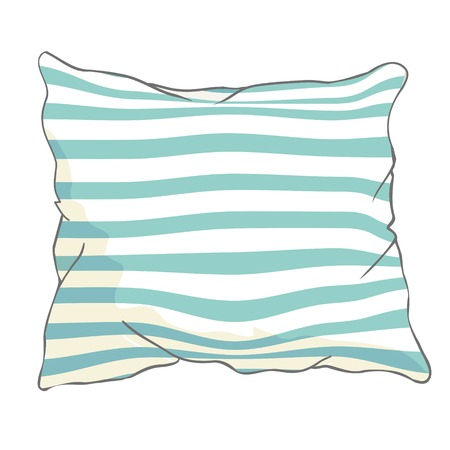 sketch vector illustration of pillow, art, pillow isolated, white pillow, bed pillow Ilustrace