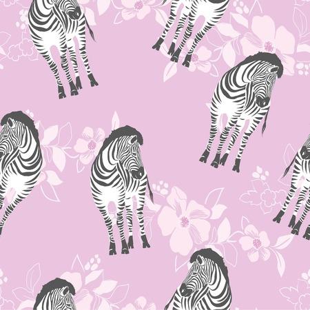 Zebra pattern, illustration, animal. Stock Photo
