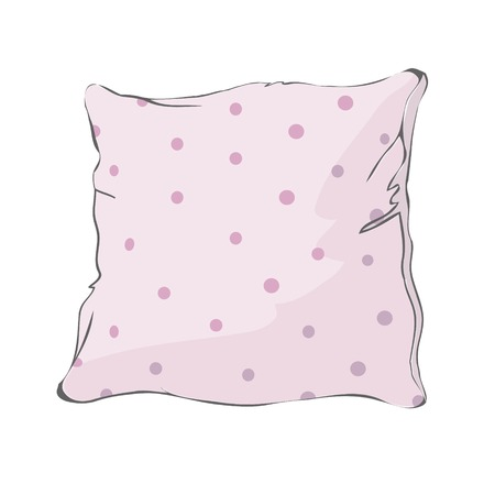 sketch vector illustration of pillow, art, pillow isolated, white pillow, bed pillow Illusztráció