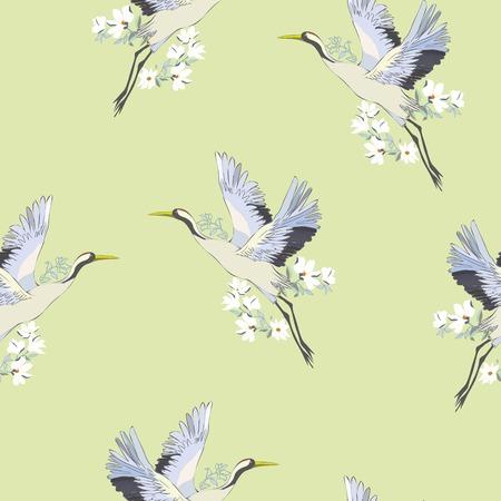 crane, pattern, vector, illustration Reklamní fotografie - 100854287
