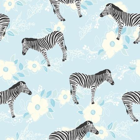 Zebra pattern, illustration, animal. Illustration