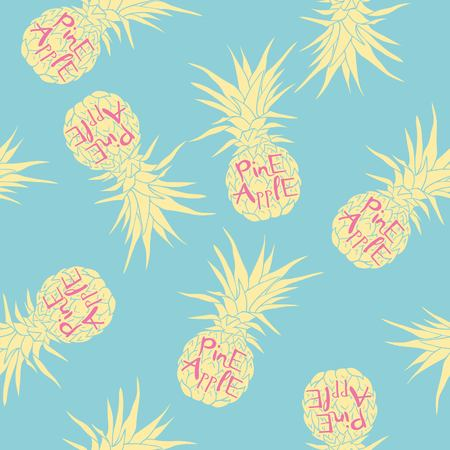 Vector Seamless Pattern with Pineapples Фото со стока - 100856905