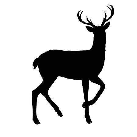 deer silhouette, vector, illustration animal black nature