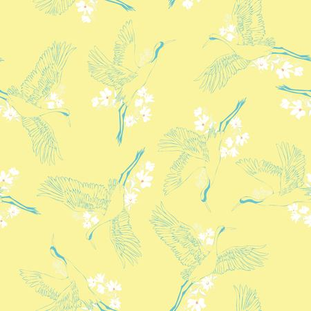 crane, pattern, vector, illustration 写真素材