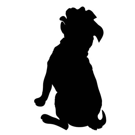 French Bulldog purebred dog standing in side view - vector silhouette isolated Stok Fotoğraf - 100860726