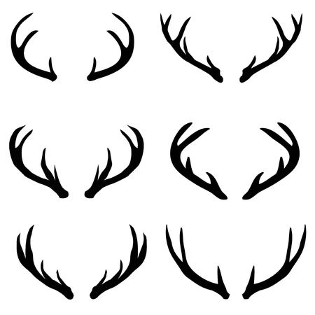 vector large collection of deer silhouettes, , animal, nature, symbol, wild black element isolated Reklamní fotografie - 102791722
