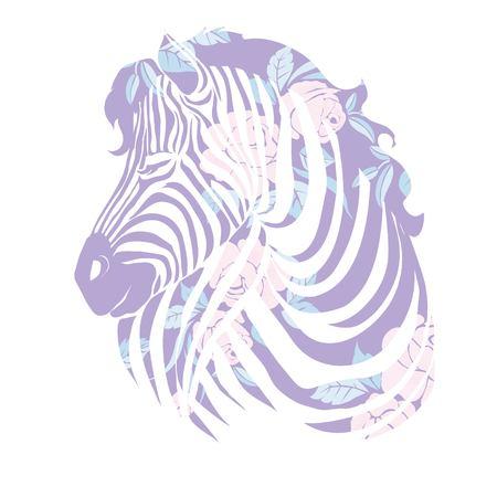 head of a zebra. Иллюстрация