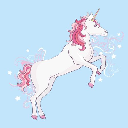 Unicorn vector, illustration. Cute unicorn graphic print