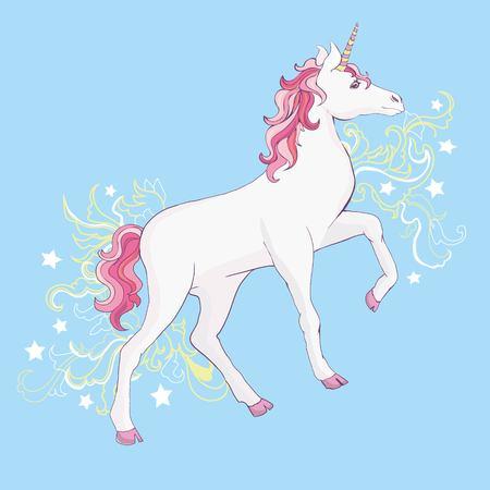 Unicorn vector, illustration. Cute unicorn graphic print