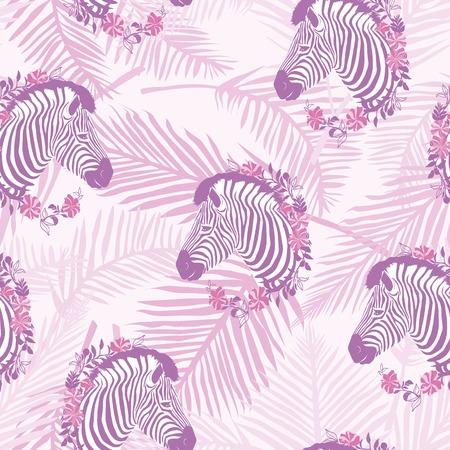 Zebra pattern, illustration, animal vector nature texture print Vector Illustration