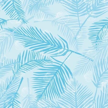 Fond marin. Illustrations vectorielles dessinés à la main - modèle sans couture de coquillages. Vecteurs