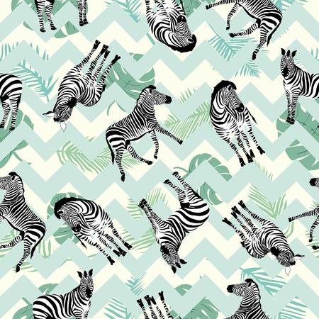 Zebra pattern, illustration, animal vector nature texture print