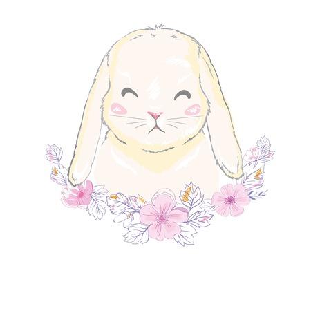 Cute bunny, vector, illustration