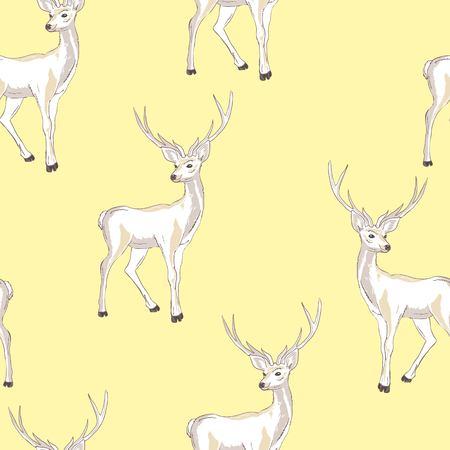 Reindeer Seamless Pattern, illustration, vector deer animal