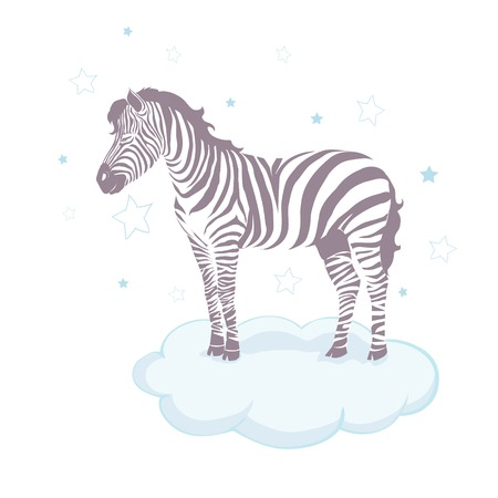 Cute zebra cartoon icon vector illustration graphic design