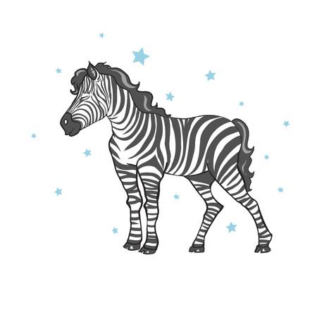 cute zebra vector illustration Illusztráció