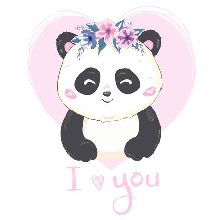 cute Panda, illustration, vector, animal