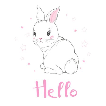 Cute bunny, vector, illustration