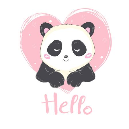 cute Panda, illustration, vector, animal Banque d'images - 121835751