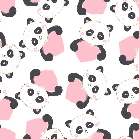 Cartoon Seamless Panda Pattern