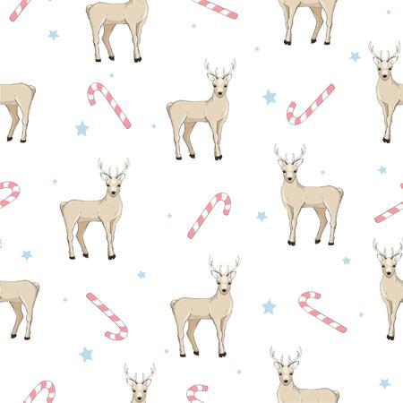 seamless deer pattern