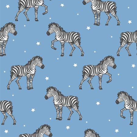 zebra pattern, kid safari print 向量圖像