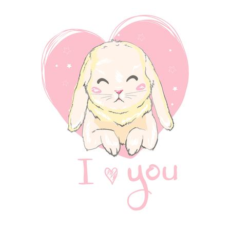 Cute bunny illustration