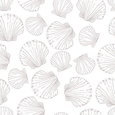 Seashell seamless pattern background. 向量圖像