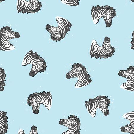 zebra pattern, kid safari print Banque d'images - 125005841