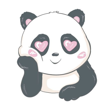 Cute Panda, animal, Vector, illustration 免版税图像 - 133864891