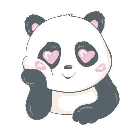 Panda lindo, animal, Vector, ilustración