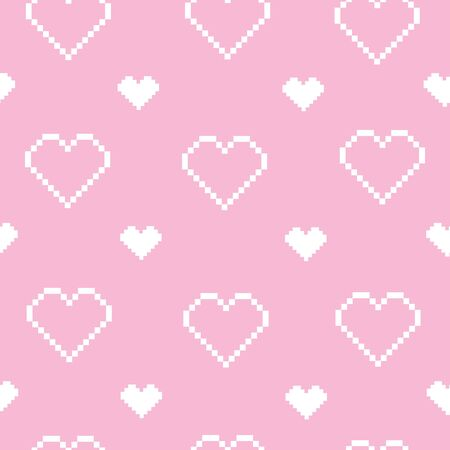 Heart doodles seamless love pattern.. Background texture for valentine's day. Banco de Imagens - 133866370