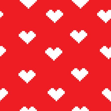 Heart doodles seamless love pattern.. Background texture for valentines day.