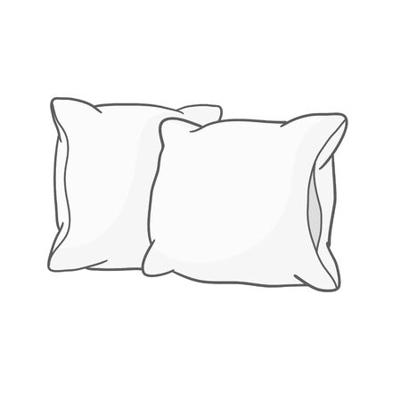 White pillow, cushion vector illustration on a white background Vector Illustration
